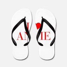 I love ANNIE-Bau red 500 Flip Flops