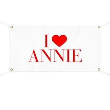I love ANNIE-Bau red 500 Banner
