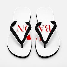 I love Bacon-Bau red 500 Flip Flops