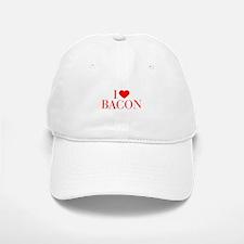 I love Bacon-Bau red 500 Baseball Baseball Baseball Cap