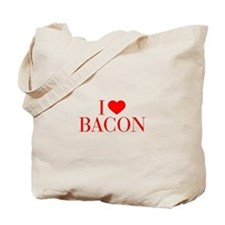 I love Bacon-Bau red 500 Tote Bag