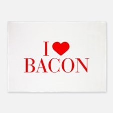 I love Bacon-Bau red 500 5'x7'Area Rug