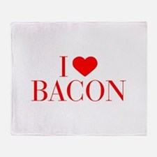 I love Bacon-Bau red 500 Throw Blanket