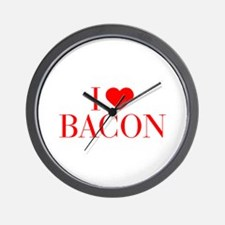 I love Bacon-Bau red 500 Wall Clock
