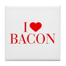 I love Bacon-Bau red 500 Tile Coaster