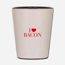 I love Bacon-Bau red 500 Shot Glass