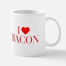 I love Bacon-Bau red 500 Mugs