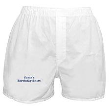 Gavin birthday shirt Boxer Shorts