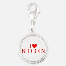 I love Bitcoin-Bau red 500 Charms