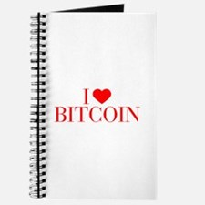 I love Bitcoin-Bau red 500 Journal