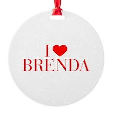 I love BRENDA-Bau red 500 Ornament