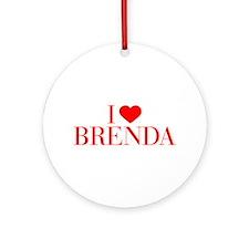 I love BRENDA-Bau red 500 Ornament (Round)