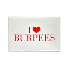 I love Burpees-Bau red 500 Magnets