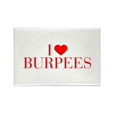 I love Burpees-Bau red 500 Magnets