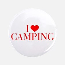 "I love Camping-Bau red 500 3.5"" Button"