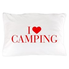 I love Camping-Bau red 500 Pillow Case