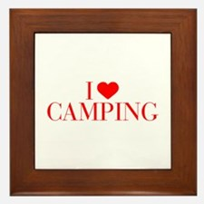 I love Camping-Bau red 500 Framed Tile