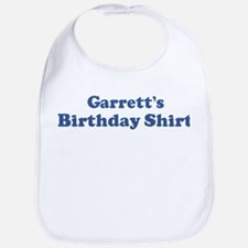 Garrett birthday shirt Bib