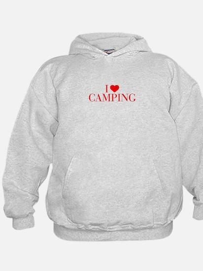 I love Camping-Bau red 500 Hoodie