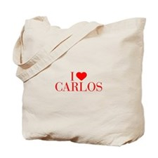 I love CARLOS-Bau red 500 Tote Bag