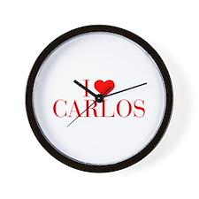 I love CARLOS-Bau red 500 Wall Clock