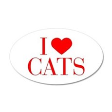I love Cats-Bau red 500 Wall Decal