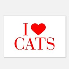 I love Cats-Bau red 500 Postcards (Package of 8)