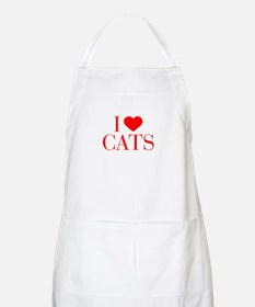 I love Cats-Bau red 500 Apron