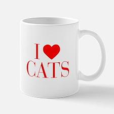 I love Cats-Bau red 500 Mugs