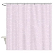 Hearts In Lace Shower Curtain