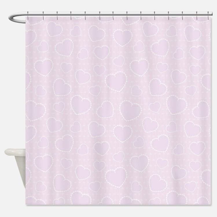Purple Lace Shower Curtains