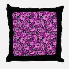 Close Roses Throw Pillow