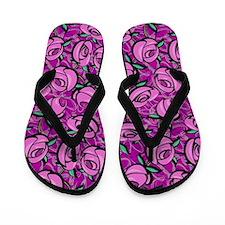 Close Roses Flip Flops