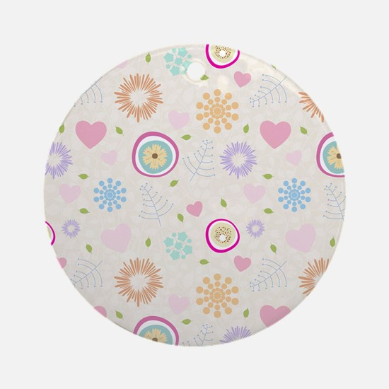 Scattered Blooms Ornament (Round)