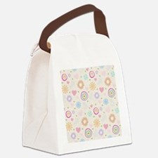 Scattered Blooms Canvas Lunch Bag