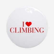 I love Climbing-Bau red 500 Ornament (Round)