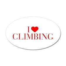 I love Climbing-Bau red 500 Wall Decal