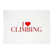 I love Climbing-Bau red 500 5'x7'Area Rug