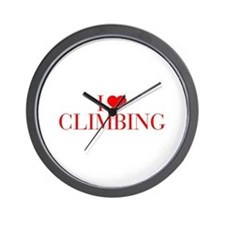 I love Climbing-Bau red 500 Wall Clock
