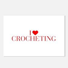 I love Crocheting-Bau red 500 Postcards (Package o