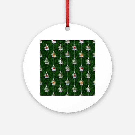 Evergreen Snowglobes Ornament (Round)