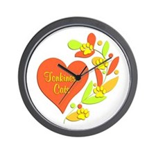 Tonkinese Heart Wall Clock