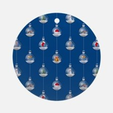 Snowglobes at Dusk Ornament (Round)