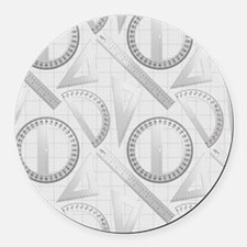 Geometry Student Round Car Magnet
