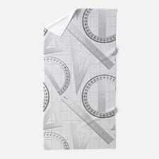 Geometry Student Beach Towel