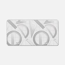 Geometry Student Aluminum License Plate