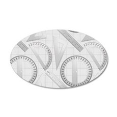 Geometry Student 20x12 Oval Wall Decal