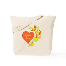 Sphynx Heart Tote Bag