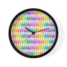 Crayon Ranks Wall Clock