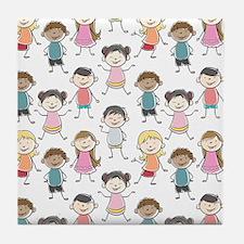 School Kids Tile Coaster